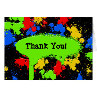 Paint Ball Thank You Card