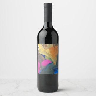 paint blobs wine label