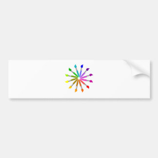 Paint Brush Color Wheel, Art Teacher color theory Bumper Sticker