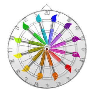 Paint Brush Color Wheel, Art Teacher color theory Dartboard