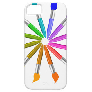 Paint Brush Color Wheel, Art Teacher color theory iPhone 5 Cases