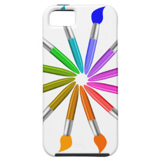 Paint Brush Color Wheel, Art Teacher color theory iPhone 5 Cover