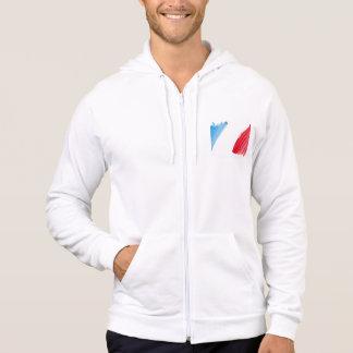Paint Brush Flag of France Hoodie