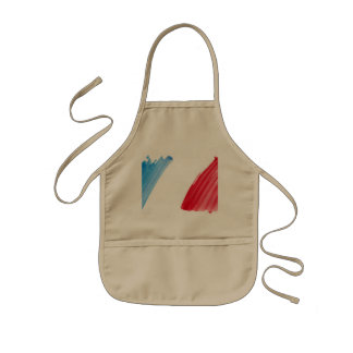 Paint Brush Flag of France Kids Apron