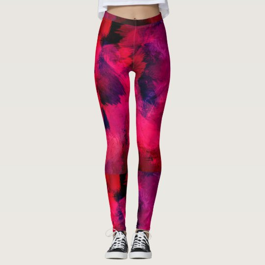 Paint Brush Pattern Leggings