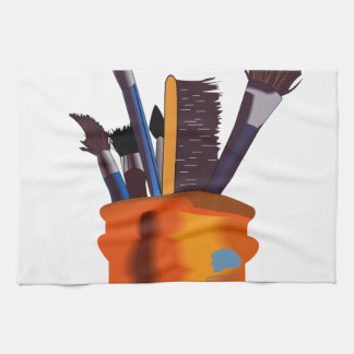 Paint Brushes Towel