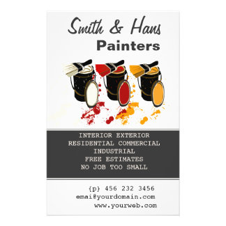 Paint Bucket 3 Colors Painter House Painting Flyer