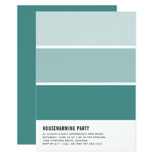 Paint Chip Housewarming Party Invitation