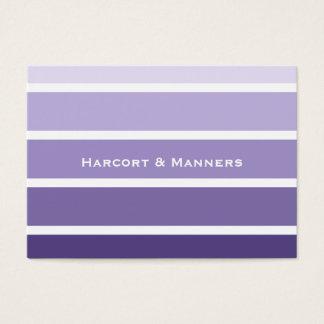 Paint Chip Style Purple Stripes Business Card