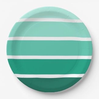 Paint CHip Style Stripes Paper Plate