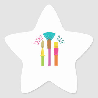 Paint Date Star Sticker