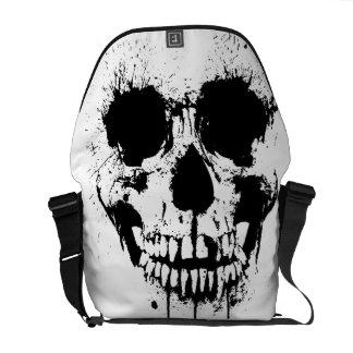 paint drip skull Back-Pack Messenger Bag