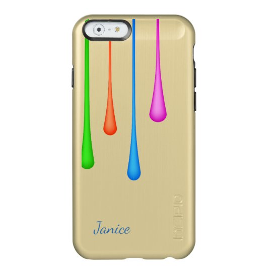 Paint Drips Gold iPhone 6S Case