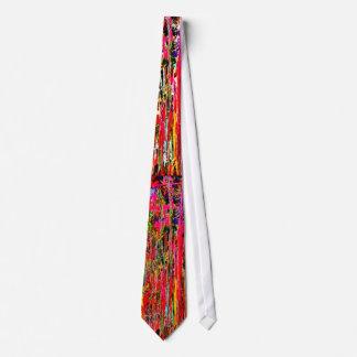 Paint drips tie. tie