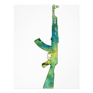 Paint Gun Letterhead Design