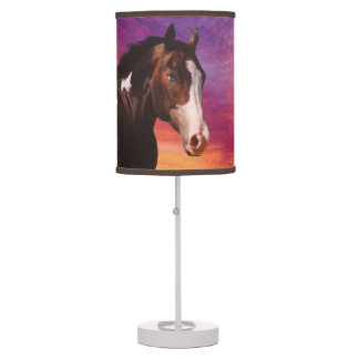Paint Horse and colorful Sunrise Table Lamp