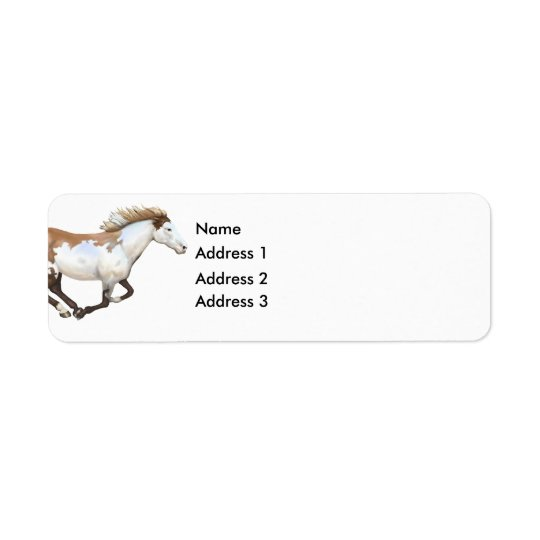 Paint Horse, Dixie, Address 3, Address 2, Addre... Return Address Label