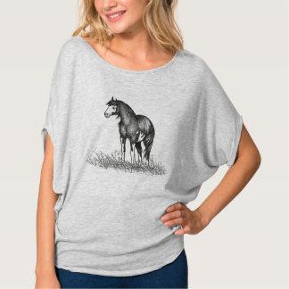 Paint Horse Ladies Flowy Circle Top Shirts