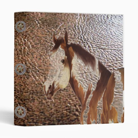 Paint Horse Leather Concho Print Design ~ Binder