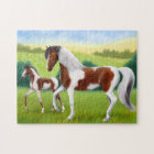 Paint Horse Mare & Foal Puzzle