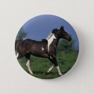 Paint Horse Running 2 2 Inch Round Button