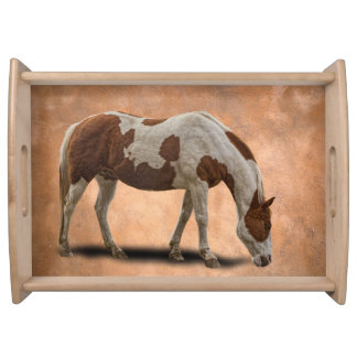PAINT HORSE SERVING TRAY