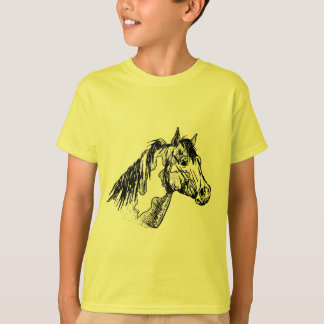 Paint Horse Simple Sketch Tshirt