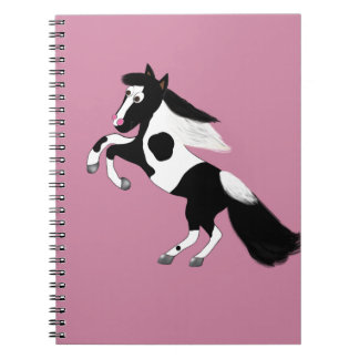 Paint Horse Spiral Note Book