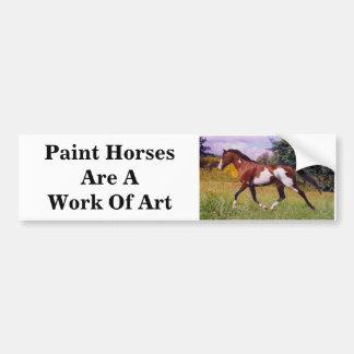 Paint Horse work of art Bumper Sticker