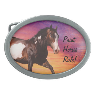 Paint Horses Rule Belt Buckle