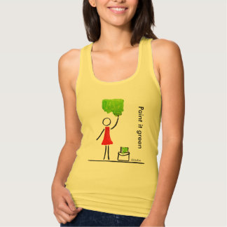 Paint it green tank top