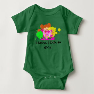 Paint Lion in style for babies Baby Bodysuit