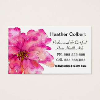 Paint Me Pink Cheerful Caregiver Professional Business Card