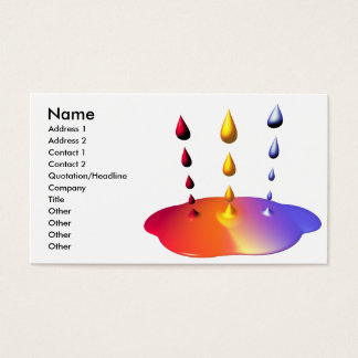 Paint Mix - Business Size Business Card