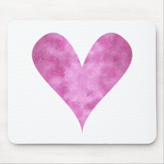 Paint-my-Heart Pink Mouse Pad