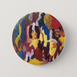 Paint Palette Abstract 2 Inch Round Button