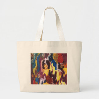 Paint Palette Abstract Jumbo Tote Bag