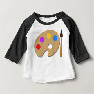 Paint Palette And Brush Baby T-Shirt