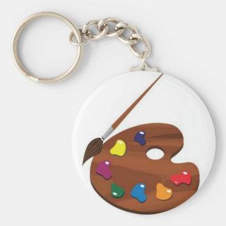Paint palette keychain