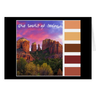 Paint Palette : the rocks of Sedona Card