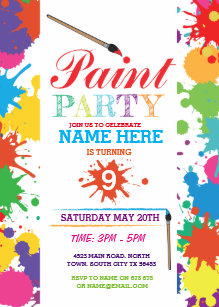 painting party invitations announcements zazzle ca