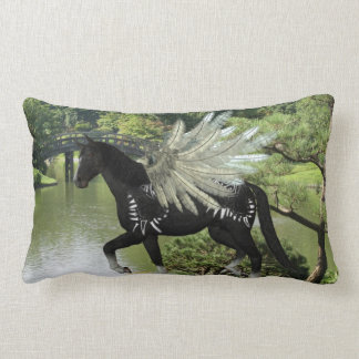 Paint Pegasus Lumbar Pillow
