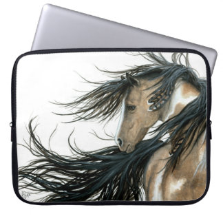 Paint Pinto Majestic Horse by Bihrle Laptop Sleeve