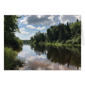 Paint River Michigan Blank Greeting Card