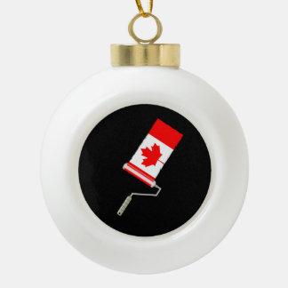 Paint Roller Canada Ceramic Ball Christmas Ornament