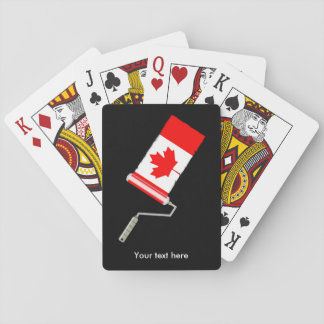 Paint Roller Canada Playing Cards