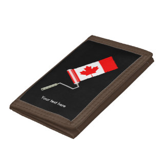 Paint Roller Canada Tri-fold Wallet