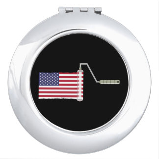 PAINT ROLLER USA with shadow all shops side Compact Mirrors