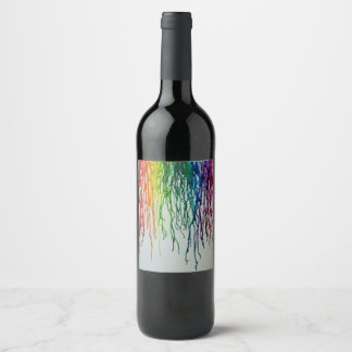 Paint Run Wine Label