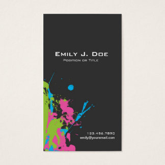 Paint Spatters Business Card